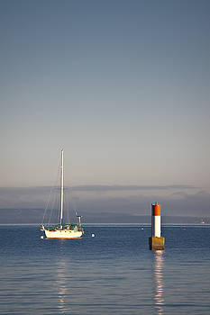 R J Ruppenthal - Anchored Sailboat