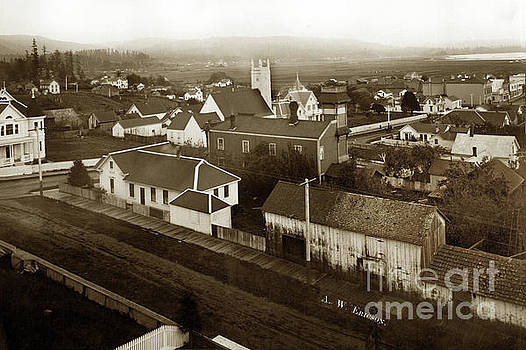 California Views Mr Pat Hathaway Archives - Arcata view of the town looking SE from hill at 12th and G Street 1903