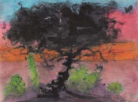 Suzanne  Marie Leclair - Black Tree in Sunset