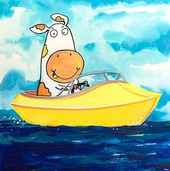 Scott Nelson - Boating Cow