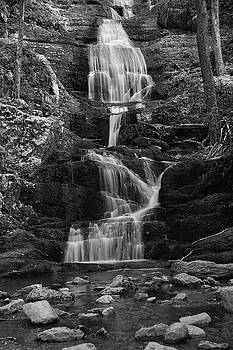 Raymond Salani III - Buttermilk Falls in Black and White