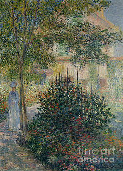 Claude Monet - Camille Monet in the Garden at Argenteuil, 1876