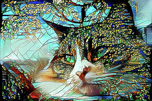 Peggy Collins - Cat in the Trees Abstract