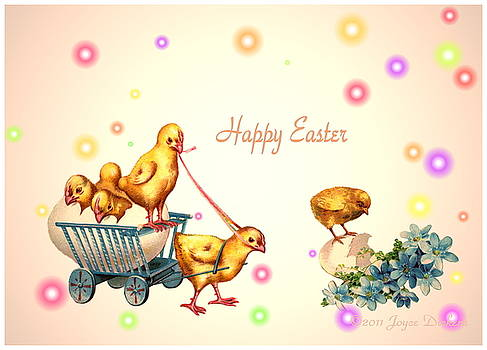 Joyce Dickens - Chicks and Eggs - Happy Easter