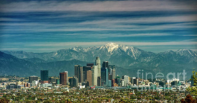 David Zanzinger - City of Angeles Snow Capped Mountain