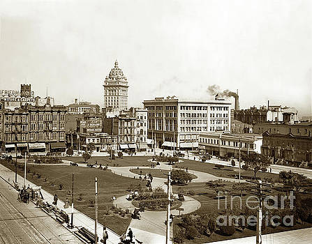 California Views Mr Pat Hathaway Archives - City of Paris and Call Building Union Square, May 28, 1900