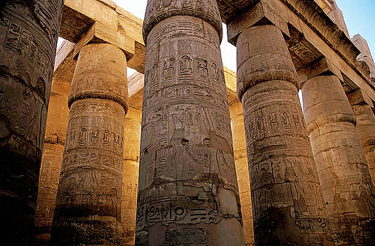 Sami Sarkis - Colonnade in the Karnak Temple Complex at Luxor