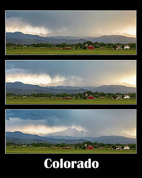 James BO Insogna - Colorado Front Range Longs Peak Lightning And Rain Poster
