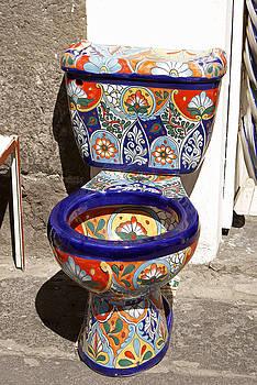 John  Mitchell - COLORFUL MEXICAN TOILET Puebla Mexico