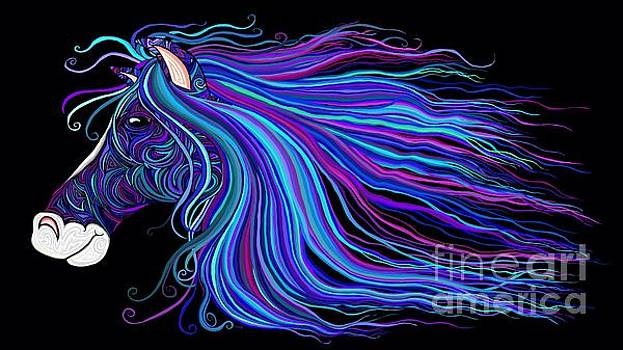 Nick Gustafson - Colorful Tribal Horse