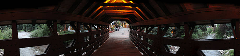 Jeff Schomay - Covered bridge in Vail Colorado Panorama