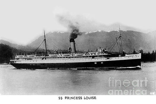 California Views Mr Pat Hathaway Archives - Cruise ship SS Princess Louise on the Inside Passage  Circa 1932
