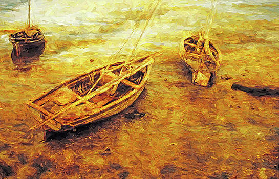 Dennis Cox WorldViews - Dhows at Low Tide