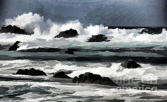 Chuck Kuhn - Digital Paint Ocean Shore Pacific