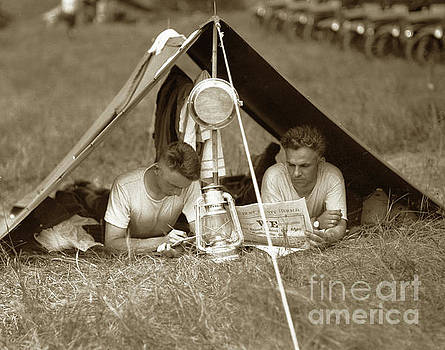 California Views Mr Pat Hathaway Archives - Doughboys in Pup tent 1918