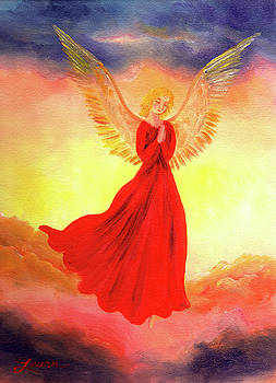 Laura Iverson - Easter Sunset Angel