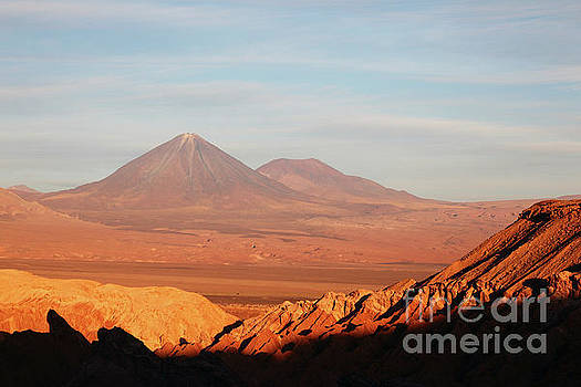 James Brunker - Evening Light on Atacama Desert and Licancabur Volcano Chile