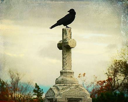 Gothicrow Images - Faded Sky With Crow On Cross