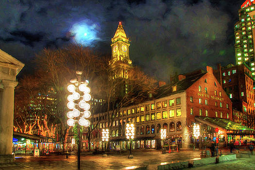 Joann Vitali - Faneuil Hall Marketplace at Night - Boston