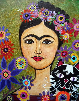 PRISTINE CARTERA TURKUS - FRIDA KAHLO AND CAT