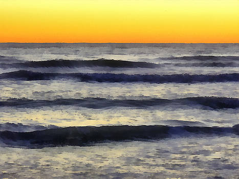 TAWES DEWYNGAERT - Gentle Gulf of Mexico Waves at Sunset