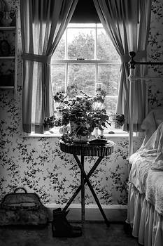 Nikolyn McDonald - Geraniums in the Bedroom - Black and White