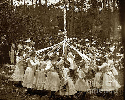 California Views Mr Pat Hathaway Archives - Girls  doing the Maypole dance Pacific Grove Circa 1890