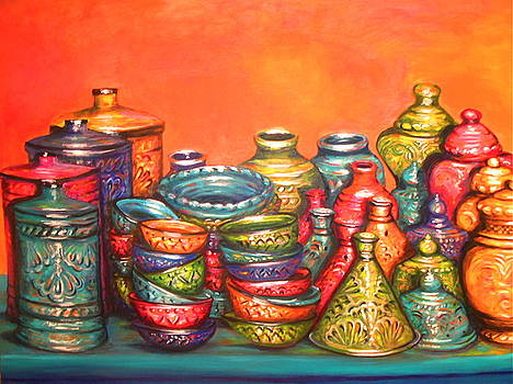 Yvonne Ayoub - Glazed Moroccan Pots