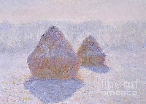Claude Monet - Haystacks  Effect of Snow and Sun, 1891