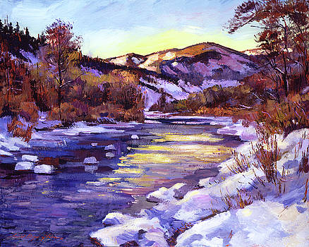 David Lloyd Glover - HIGH COUNTRY RIVER IN WINTER