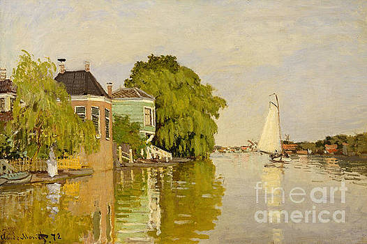 Claude Monet - Houses on the Achterzaan, 1871