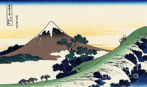 Hokusai - Inume pass in the Kai province