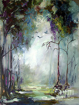 Ginette Callaway - Landscape Portrait Wetland Misty Morning with Birds