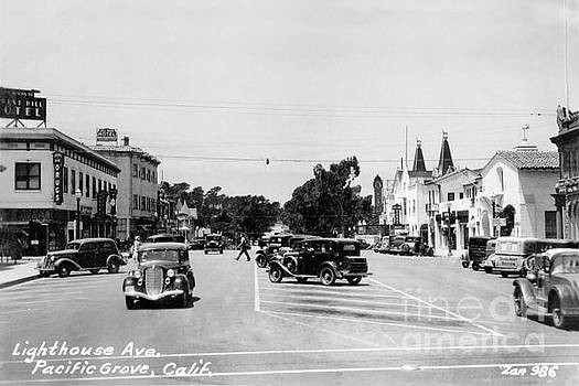 California Views Mr Pat Hathaway Archives - Lighthouse Avenue downtown Pacific Grove 1935