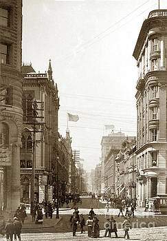 California Views Mr Pat Hathaway Archives - Looking up Montgomery streets Circa 1900