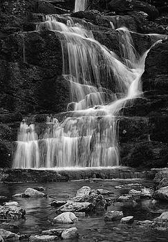 Raymond Salani III - Lower Buttermilk Falls in Black and White