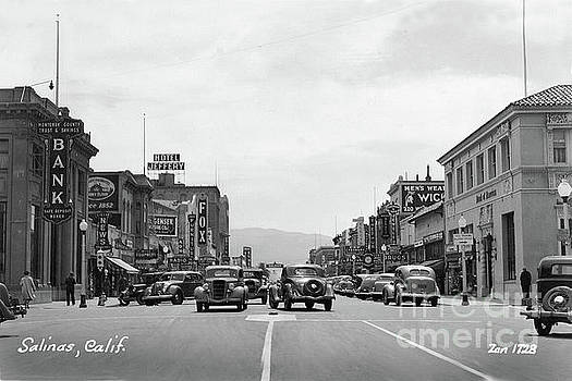 California Views Mr Pat Hathaway Archives - Main street, Monterey County Bank, Fox Theater,  Hotel Jeffery 1938