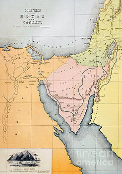 English School - Map Depicting the Countries between Egypt and Canaan