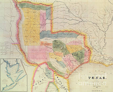 David Burr - Map of the state of Texas, 1835