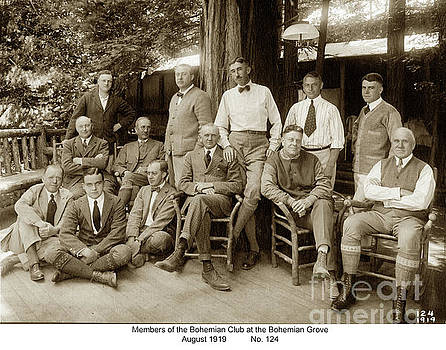 California Views Mr Pat Hathaway Archives - Members of the Bohemian Club at the Bohemian Grove, August 1919