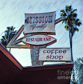 Gregory Dyer - Mission Family Restaurant Vintage Sign