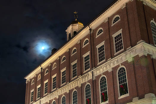 Joann Vitali - Moon Over Faneuil Hall