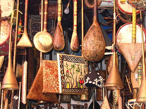 Yvonne Ayoub - Morocco Marrakesh Market musical instruments