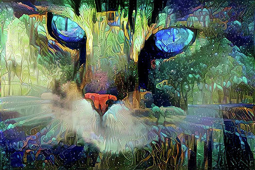 Peggy Collins - Mystical Cat Art