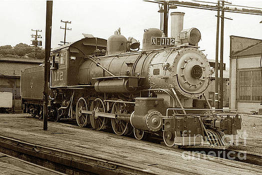 California Views Mr Pat Hathaway Archives - Northwestern Pacific locomotive 4-6-0 No. 112 in the Tiburon Yar