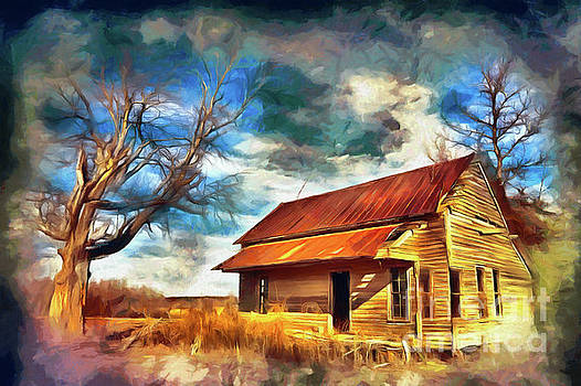 Dan Carmichael - Old House and Dramatic Sky AP