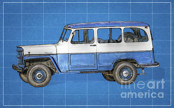 Randy Steele - Old Willys Jeep Wagon Blueprint