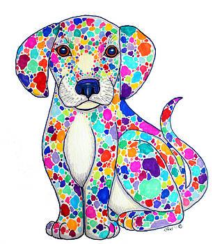 Nick Gustafson - Painted Puppy
