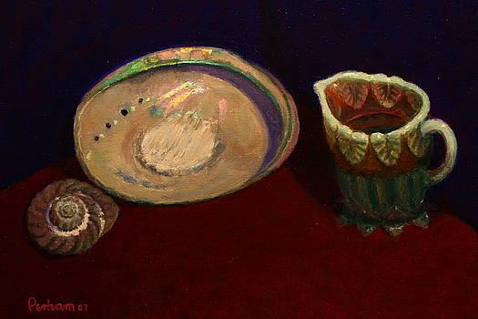 Terry Perham - paua and glass jug
