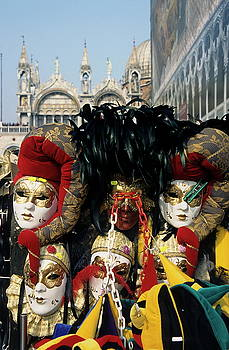 Sami Sarkis - Person surrounded by elaborate masks for sale on St Mark